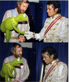 Michael Jackson, Jim Henson, & Kermit
