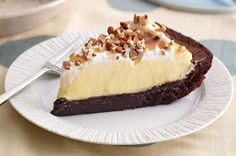 Three-Layer Brownie Pie