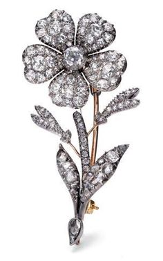 """Signature Victorian Collection....known for its international taste and appeal!    """"Emmie""""...only $800 or P35,200!! Victorian Inspired 2.03ct Diamond Floral Brooch! Imported, world-class quality, not pre-owned, not pawned, not stolen. We deliver worldwide <3"""