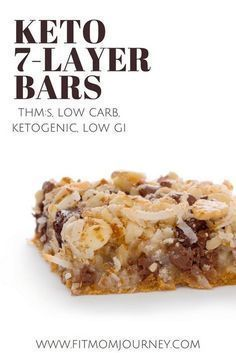 Take old-fashioned 7 Layer Bars to the next levels with a Keto spin! My Keto 7 Layer Bars are gluten-free, high-fat, low carb, ketogenic, and are super simple to make! #desserts #recipes #lowcarb #lchf #keto #ketogenic #ketosis #ketogenicdiet #trimhealthymama