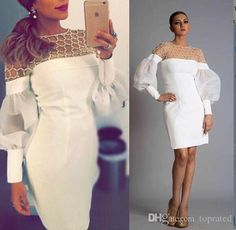 toprated welcomes you to select maternity cocktail dress,one shoulder cocktail dress and pink cocktail dresses on Dhagte.com. unique white long sleeve cocktail dresses illusion neckline pearls beading knee length chiffon 2017 women formal wear party prom dress gowns is on sale now.