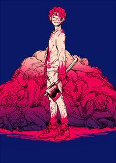 Bloody anime boy Guro