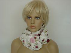 """Seidenschal """"Rose"""" Steckschal mit Stickerei von Hofatelier-naturmode-handmade auf DaWanda.com"""