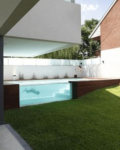 A beautiful house with a large swimming pool is something everyone dreams of once in a while. If the house is already checked from your list, all you need to do is take care of the swimming pool part. Dumpster Pool, Shipping Container Swimming Pool, In Law House, Pavillion, Ultra Modern Homes, Pool Shapes, Backyard Pavilion, Prefabricated Houses, Villa