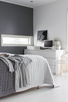 lisbet e. - grey and white bedroom