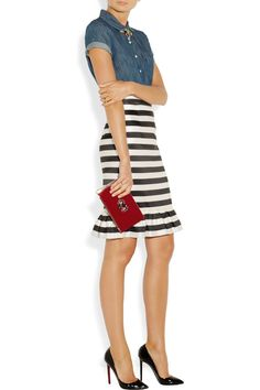 Fashion and Lifestyle Charlotte Olympia, J Crew Necklace, Fashion Heels, Christian Louboutin Shoes, Perfect Match, Dresses For Work, Stripes, Style Inspiration, My Style