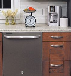 White Kitchen Cabinets With Black Slate Appliances Slate Kitchen, White Kitchen Cabinets, Wooden Kitchen, New Kitchen, Kitchen Dining, Kitchen Decor, Kitchen Ideas, Slate Appliances, Best Appliances