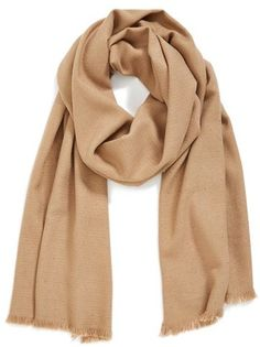 $32, Tan Scarf: Glitter Shine Scarf by Halogen. Sold by Nordstrom. Click for more info: http://lookastic.com/women/shop_items/116135/redirect