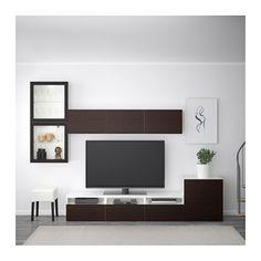 Combinaison rangement TV/vitrines blanc Sindvik – meuble TV – IKEA
