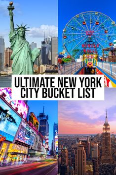 The Ultimate New York City Bucket List You Need For Your Trip! Plan your trip to the Big Apple with this ultimate New York City bucket list. These are the New York Must dos! New York Guide, New York Travel Guide, Usa Travel Guide, New York City Travel, Travel Usa, New York City Trip, New York City Attractions, Travel Checklist, Travel Tips