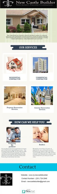 If you want to home improvement project, remodel or new build, you will likely want to hire a building contractor in New Jersey. Contractors NJ professionals manage all aspects of the job to ensure it is completed on schedule and to your satisfaction.