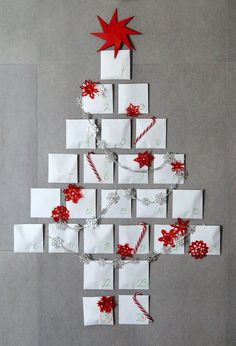 Easy DIY advent calendar  Calendario de adviento