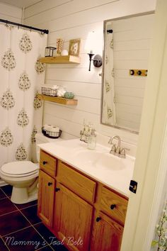 Turn a Tired Bathroom into a Spa with Faux Shiplap