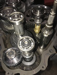 Polaris RZR TURBO Transmission with the CryoHeat modifications showing close up the low-speed your delete kit installed.  It's very inexpensive way to pick up throttle response and more RPM by removing gears that most of us do not even use.