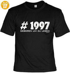 T-Shirt zum 20. Geburtstag Geschenk zum 20 Geburtstag 20 Jahre Geburtstagsgeschenk 20-jähriger #1997 Gr: M (*Partner-Link)