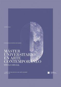 UEM  Diseño de carteles para varios Másters de la   Universidad Europea de Madrid (UEM).    Design of poster for various Masters of the   European University of Madrid.