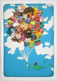 Your Love Keeps Lifting Me (Muppets) by Lauren Babis - Threadcakes