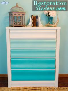 I have an old dresser in my craft room that I totally need to do this to.