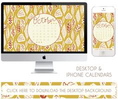 october desktop + iphone calendars. free download!