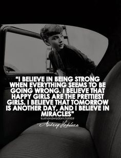 Audrey Hepburn quote on being strong