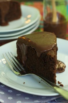 Chocolate Zucchini Cake with Chocolate Ganache  by Oven Love, adapted from Buttered Up