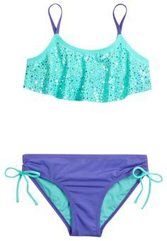 Sexy Swimwear Bikini Swimsuits for Teens Summer Bathing Suits, Girls Bathing Suits, Swimsuits For Teens, Cute Swimsuits, Justice Swimsuits, Flounce Bikini, Bikini Swimwear, Bikini Top, Girls Sports Clothes
