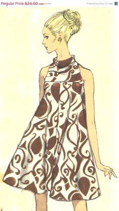 Vintage Tent Dress Vogue Pattern 7170 size 12 by SewReallyCute Moda Vintage, Vintage Vogue, Mod Fashion, 1960s Fashion, Vintage Fashion, Vintage Outfits, Vintage Dresses, Patron Vintage, Magazine Mode