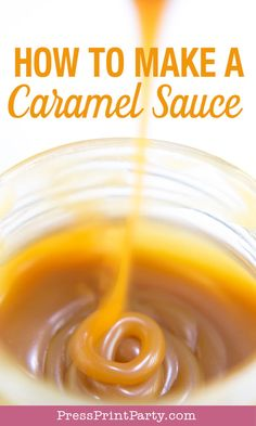 How to make a caramel sauce with only 3 ingredients. Easy recipe for caramel sauce for dips for apples, for ice cream, your coffee, or sticky toffee pudding Caramel Sauce Easy, Homemade Caramel Sauce, Caramel Recipes, Fall Recipes, Apple Ice Cream, Apple Dip, Caramel Pudding, Sticky Toffee Pudding, Pudding Recipes