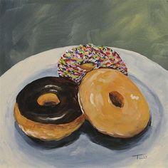 """""""For the Love of Krispy Kreme"""" - Original Fine Art for Sale - © Torrie  Smiley"""
