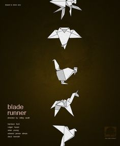 Blade Runner is probably my favorite sci fi film, but there aren't many image that represent it. The owl and the unicorn have been my favorite from all the fan art and alt. posters.