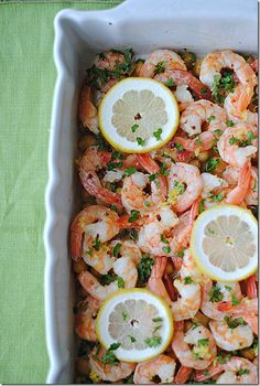 Lemon and Garlic Shrimp with Chickpeas, only 5 WW points