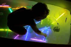 Glow Stick Bath. Cheap & Easy. We did this last night, it was really fun. Dollar store for glow stick packs, well worth it. Get some bubbles going and u r the best mom ever!!