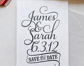 Wedding Logo, custom logo, save the date, custom monogram, personalized wedding, wedding stationery, DIY wedding, script font, digital file. $50.00, via Etsy.