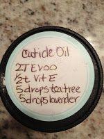 Diary of an Urban Housewife: DIY Cuticle Oil