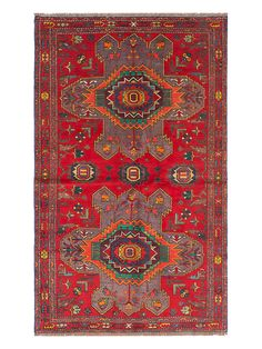 Ghafkazi Hand-Knotted Wool Kilim Rug from Get The Look: Flea Market Finds on Gilt