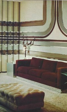 """Decor advice 1975 article: """"Atmosphere calls more for planning than it does for cash, since it is the total, cohesive feeling or mood of a room. You can achieve the desired atmosphere by deciding on a theme and sticking to it."""""""