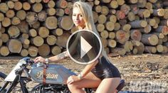 Video: Hot Bike Girls / Leticia Cline / Roland Sands Design Indian Motorcycle #rolandsands #leticiacline #sturgis #motorcycles #womenwhoride