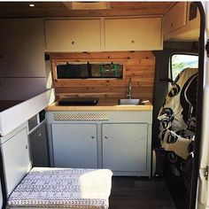 This Sprinter Van belonging to @burlydirtyhippy is so close to being done. Such a cool galley...also digging that Grateful Dead tapestry on the drivers seat Show off your Sprinter Van! Tag your pics #sprintercampervans to be featured. Regram via @sprintercampervans