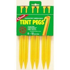 Camping Tent Accessories - Coghlans 9312 12 Tent Peg Pack of 6 -- More info could be found at the image url.