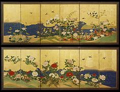 BRAFA - Brussels Antiques and Fine Art Fair - Dealer Page on Fair - Helena Markus Antique Japanese Screens - Japanese art
