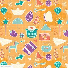 Happy doodles pattern design by http://ankepanke.nl