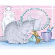 "Kissing cat ""Monica, Maxwell, Muzzy and Amanda"" from House-Mouse Designs® Colouring Pages, Adult Coloring Pages, Beatrix Potter, Illustrations, Illustration Art, House Mouse Stamps, Mouse Pictures, Mouse Color, Moise"