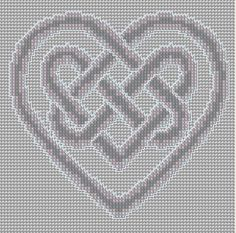 Cross Stitch Pattern Heart Knot PDF Emailed Craft Celtic Symbol Irish Unity Love Wedding Handfasting