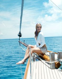 Sailing Girl and they say women on a boat are bad luck I disagree