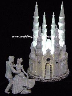 Lighted Cinderella Castle Cake Topper lit