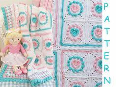 CROCHET PATTERN  Halo Heart Crochet Blanket by KerryJayneDesigns