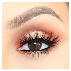 Orange Eye Makeup   Pinterest ❤ liked on Polyvore featuring beauty products, makeup, eye makeup and beauty