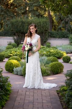 Art Deco Inspired Wedding Editorial at Denver Botanic Gardens