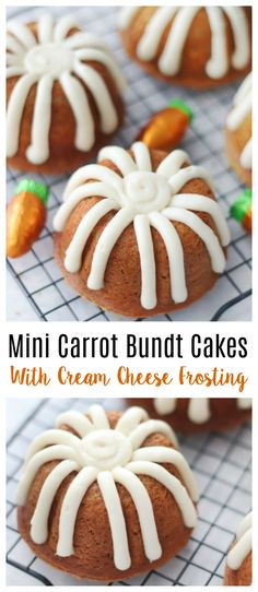 These mini carrot bundt cakes are so EASY to make using a cake mix. I'll share how to make ANY cake mix cake taste amazing by adding two ingredients. You'll love our homemade cream cheese frosting, and I'll even show you how to ice them just like the ones from your local bakery!