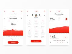Hi dribbblers! I want to show you my older concept of app for smart controling your homes. I hope that you like it. Mobile Application Design, Mobile Ui Design, Ui Kit, Ios 7 Design, Dashboard Design, Design Design, Pad App, Ui Design Inspiration, Photoshop
